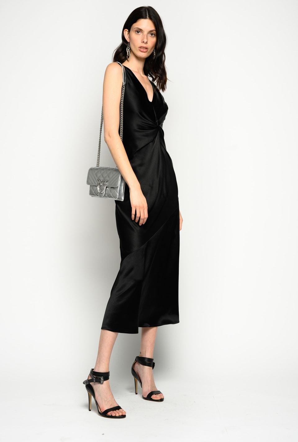 Two-tone satin dress
