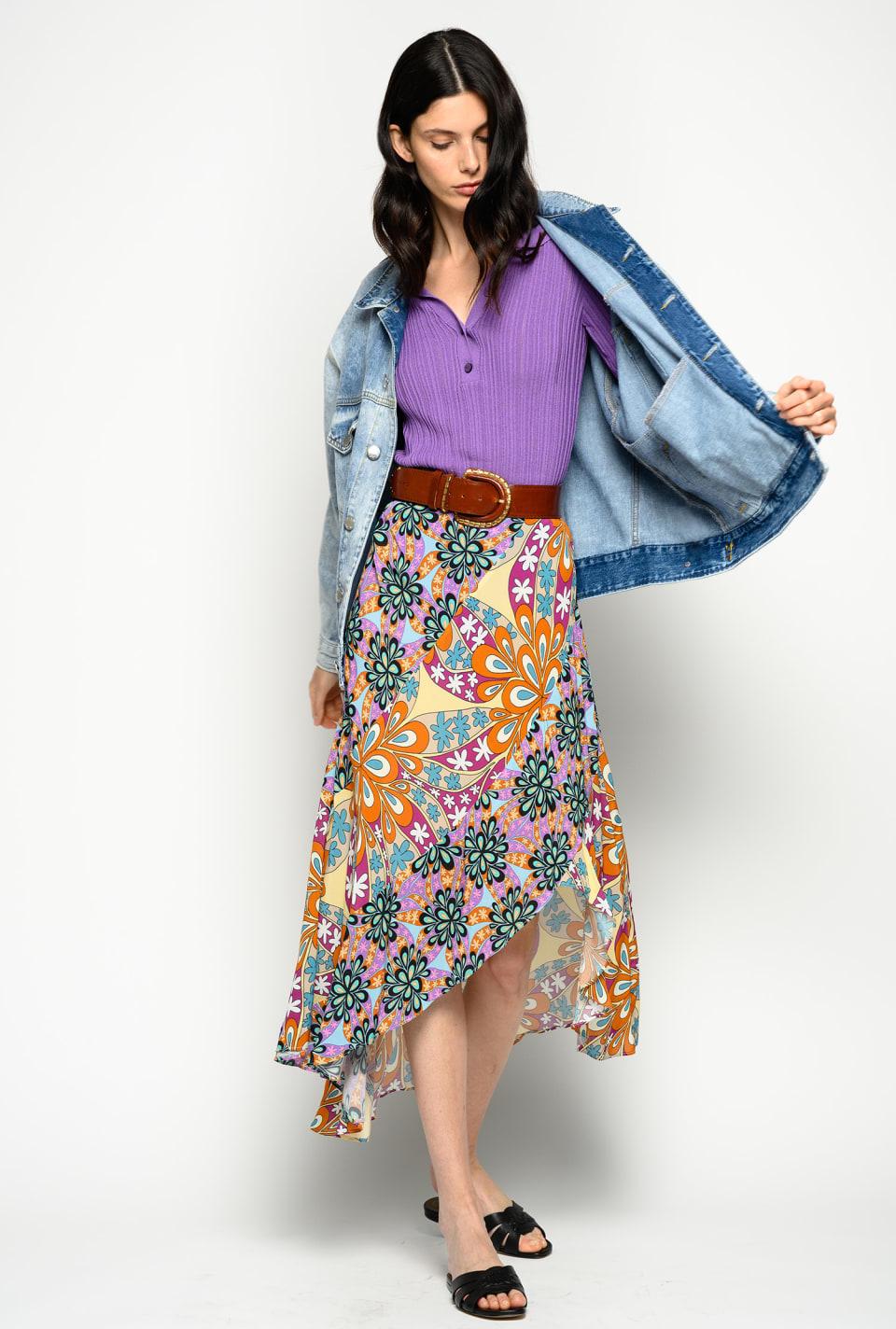 Falda floral