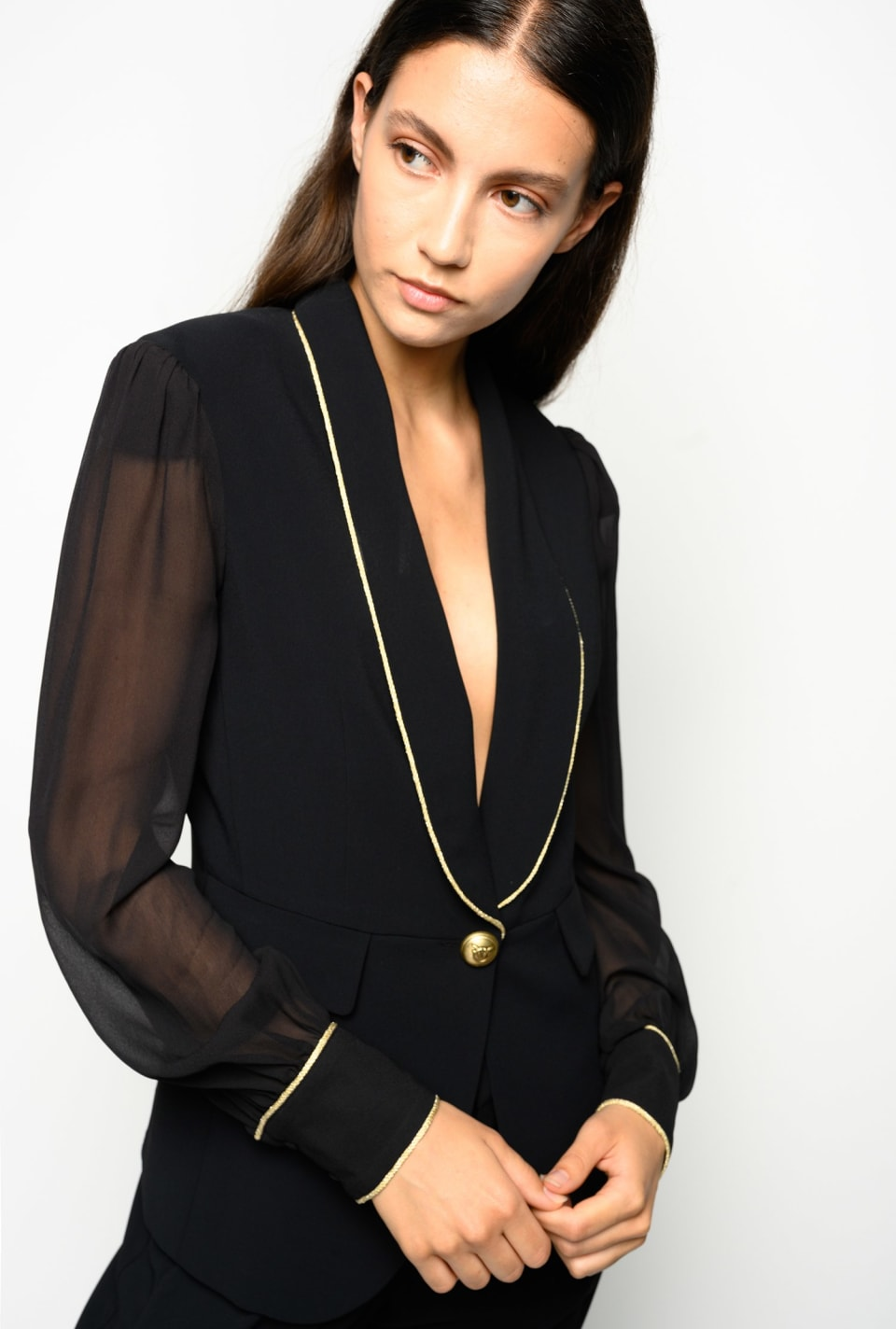 Crepe and georgette blazer - Pinko