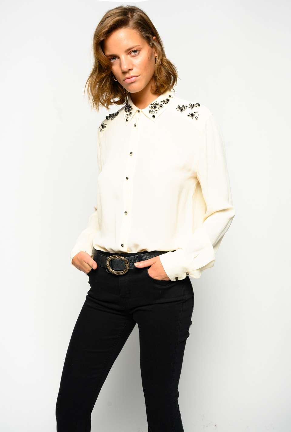 Jewelled shirt - Pinko