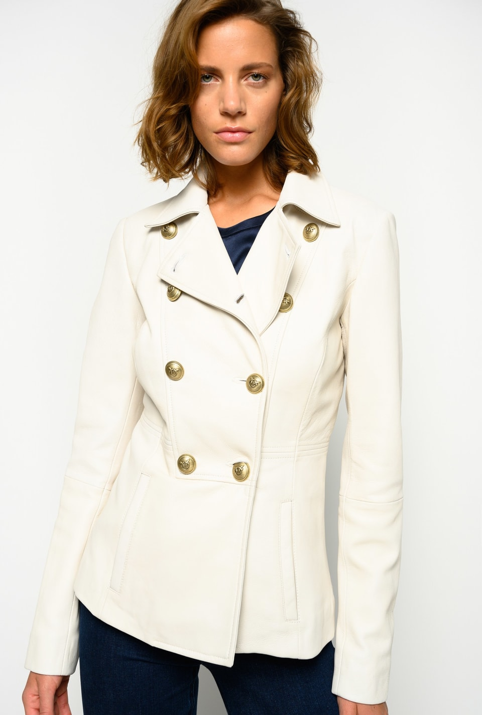 Leather navy-style jacket - Pinko