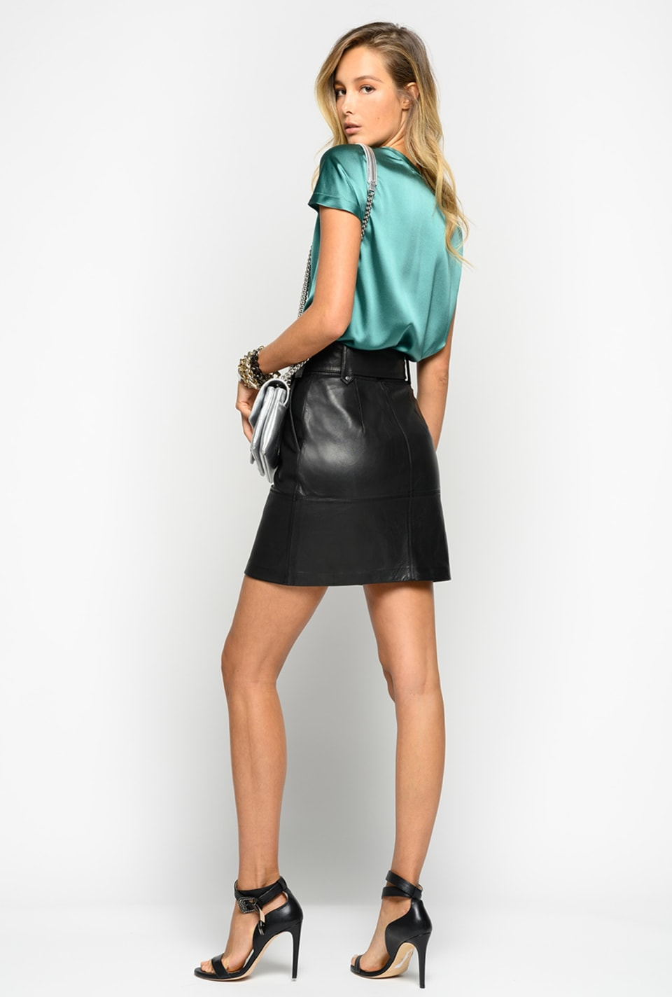 Leather mini skirt - Pinko