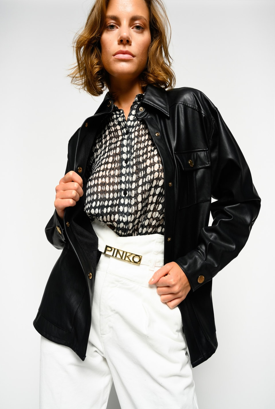 Leather-look jacket - Pinko