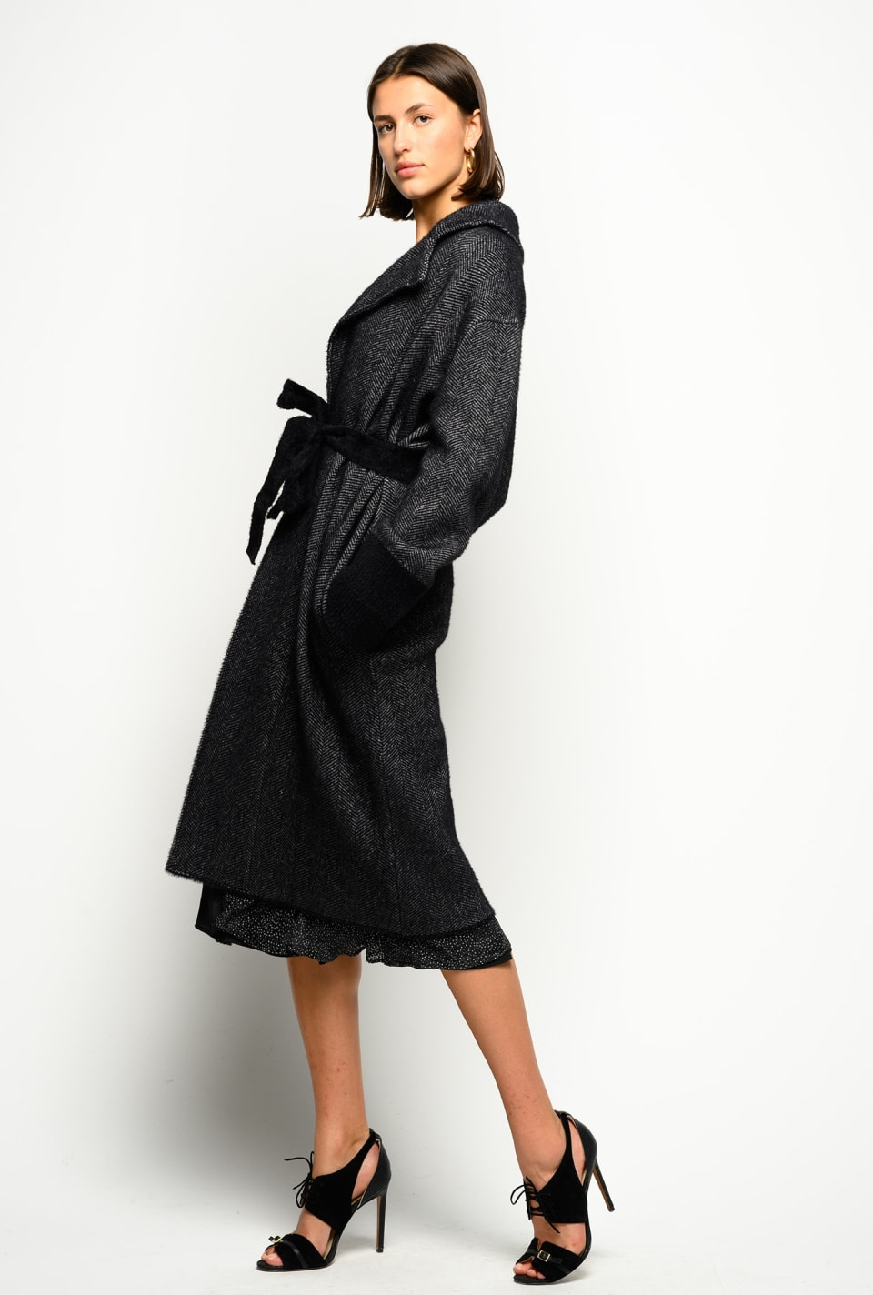Long chevron coat - Pinko