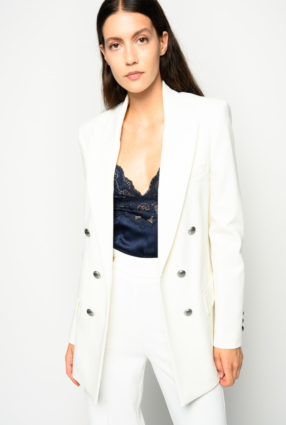 Milano stitch blazer with golden buttons - Pinko