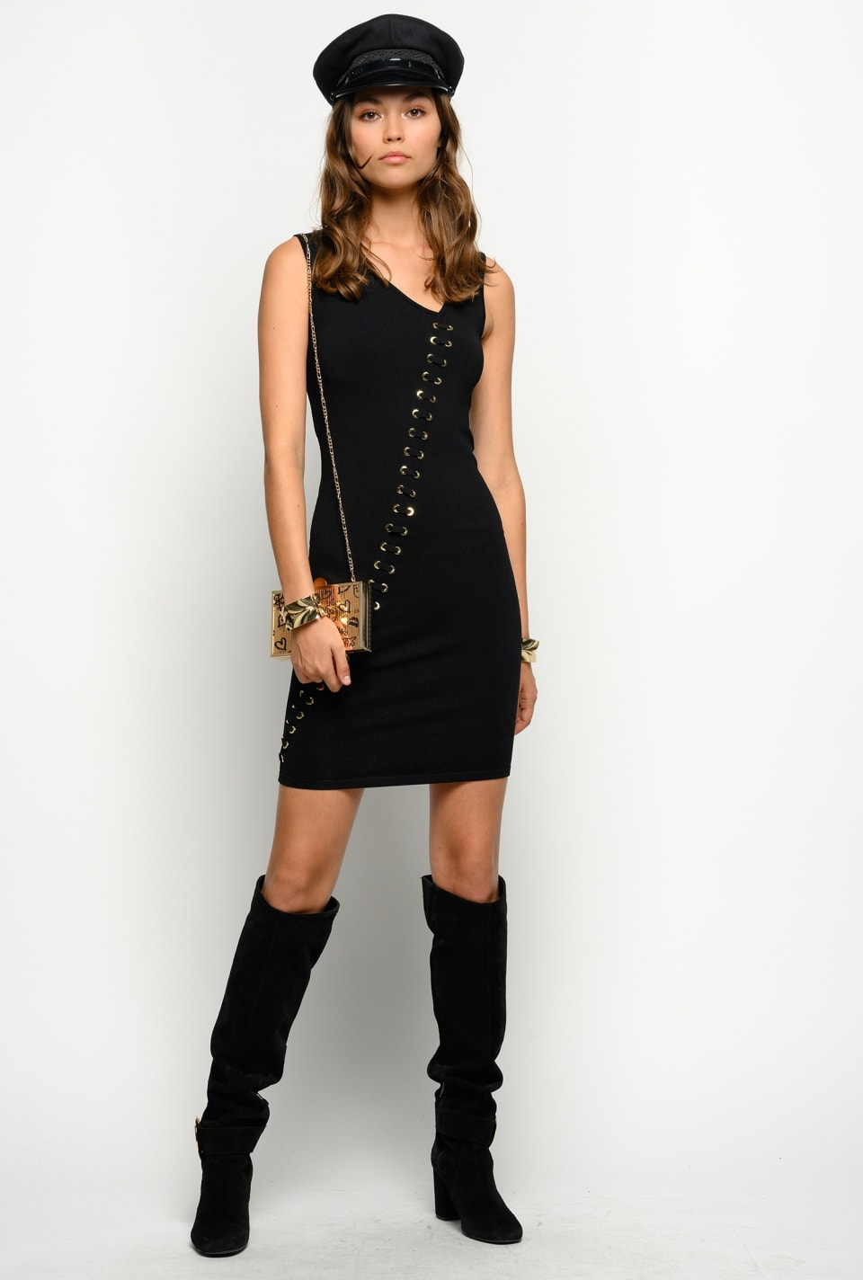Sheath dress with eyelets - Pinko