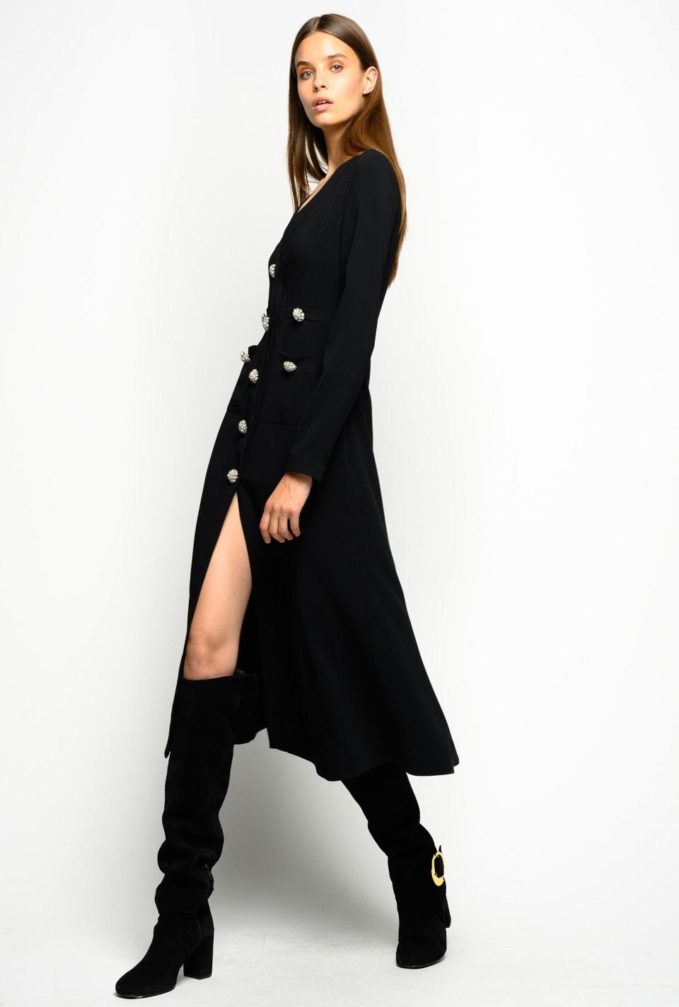 Robe longue avec boutons bijoux - Pinko