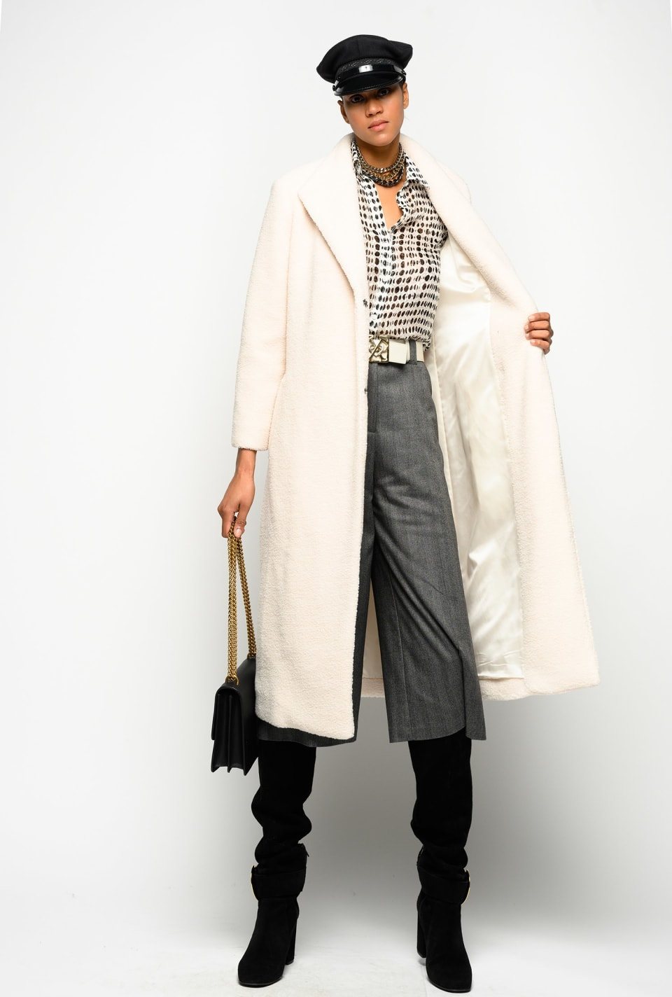 Chevron pattern culottes - Pinko