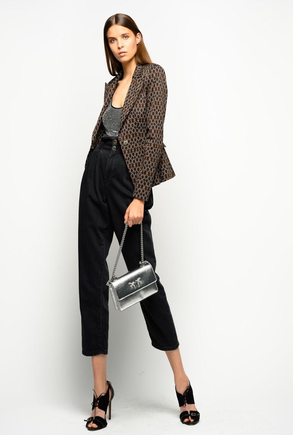 70s geometric pattern blazer - Pinko