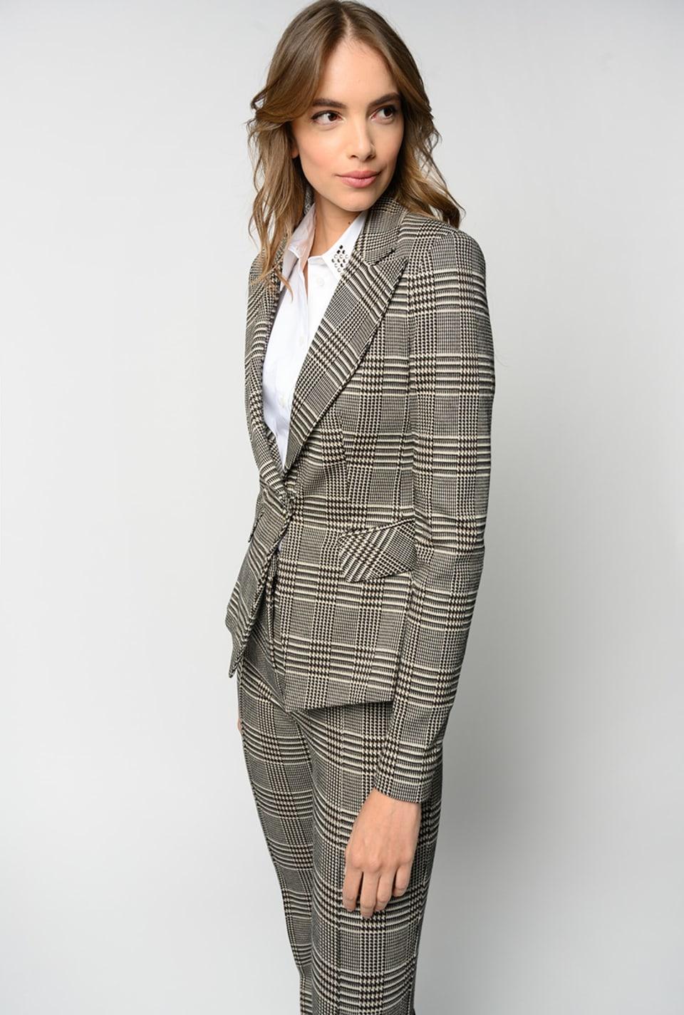 Prince-of-Wales pattern blazer - Pinko