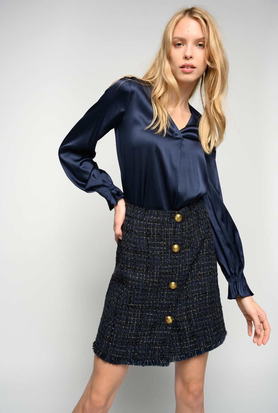 Minigonna in tweed lurex - Pinko