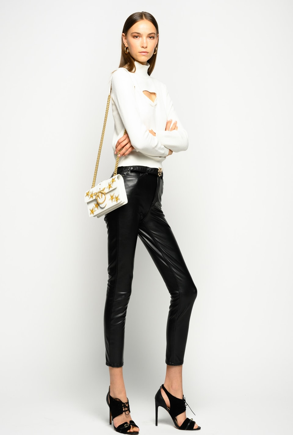 Skinny leather-look trousers - Pinko