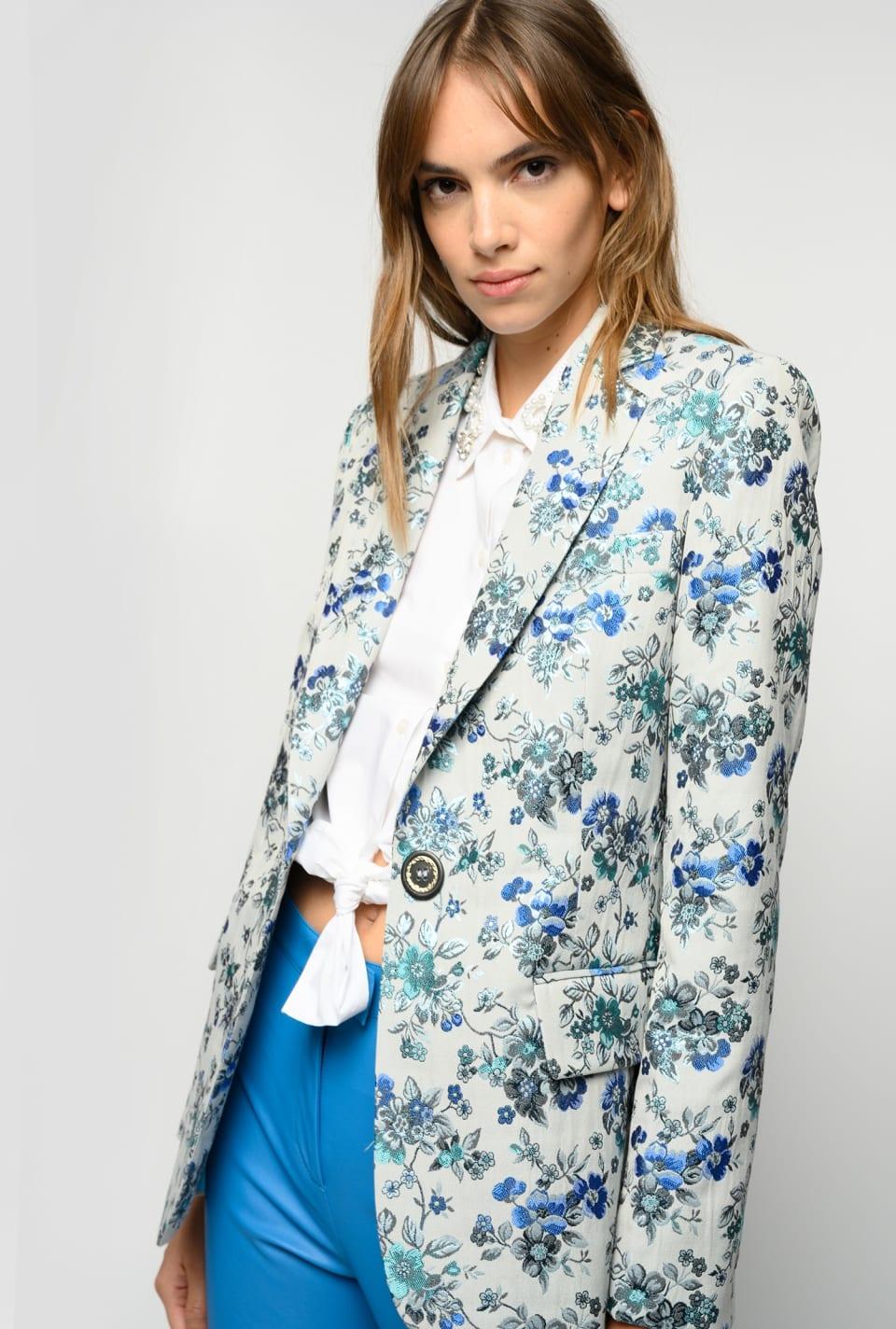 Floral brocade blazer - Pinko