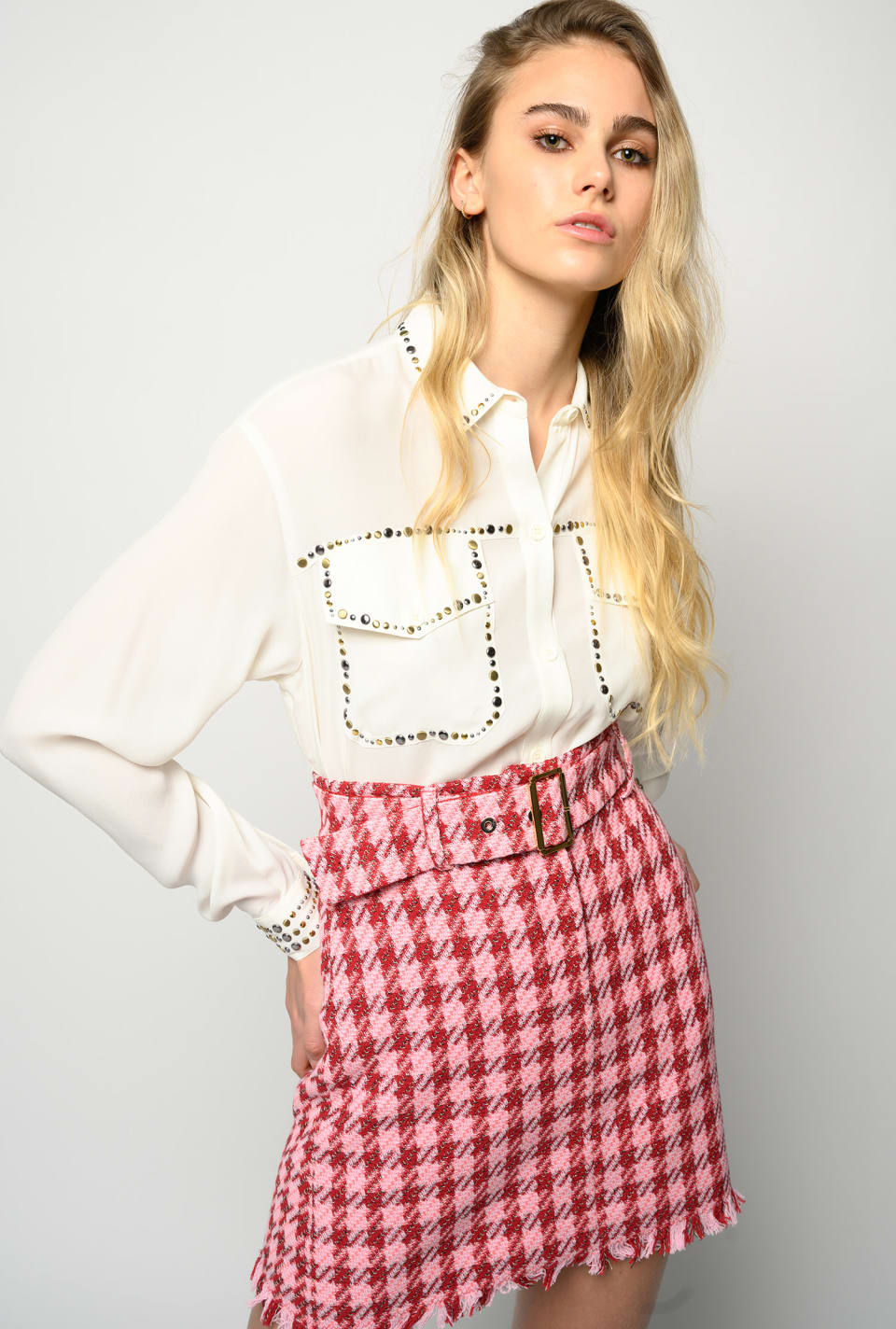 Shirt with studs - Pinko