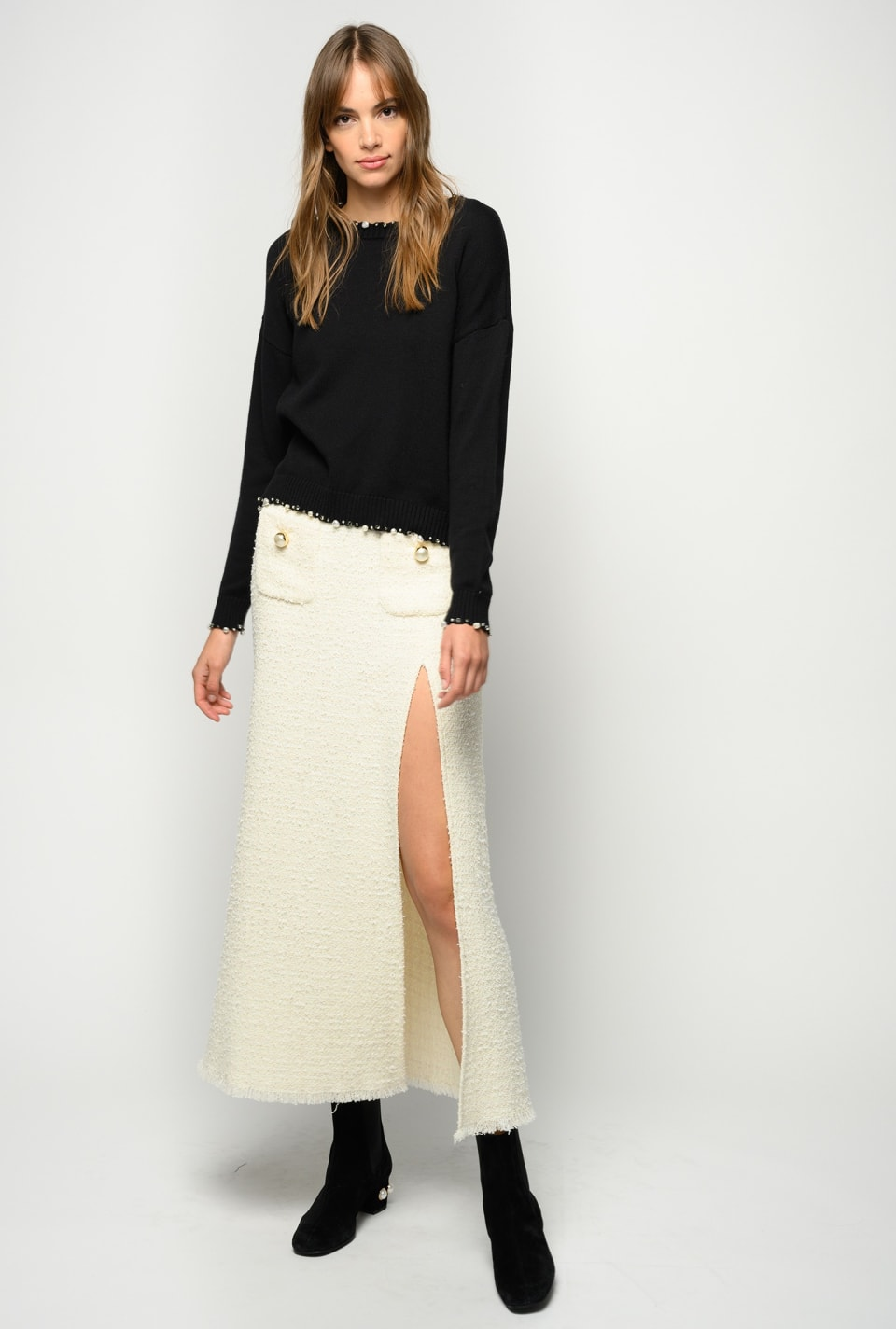 Long tweed skirt - Pinko