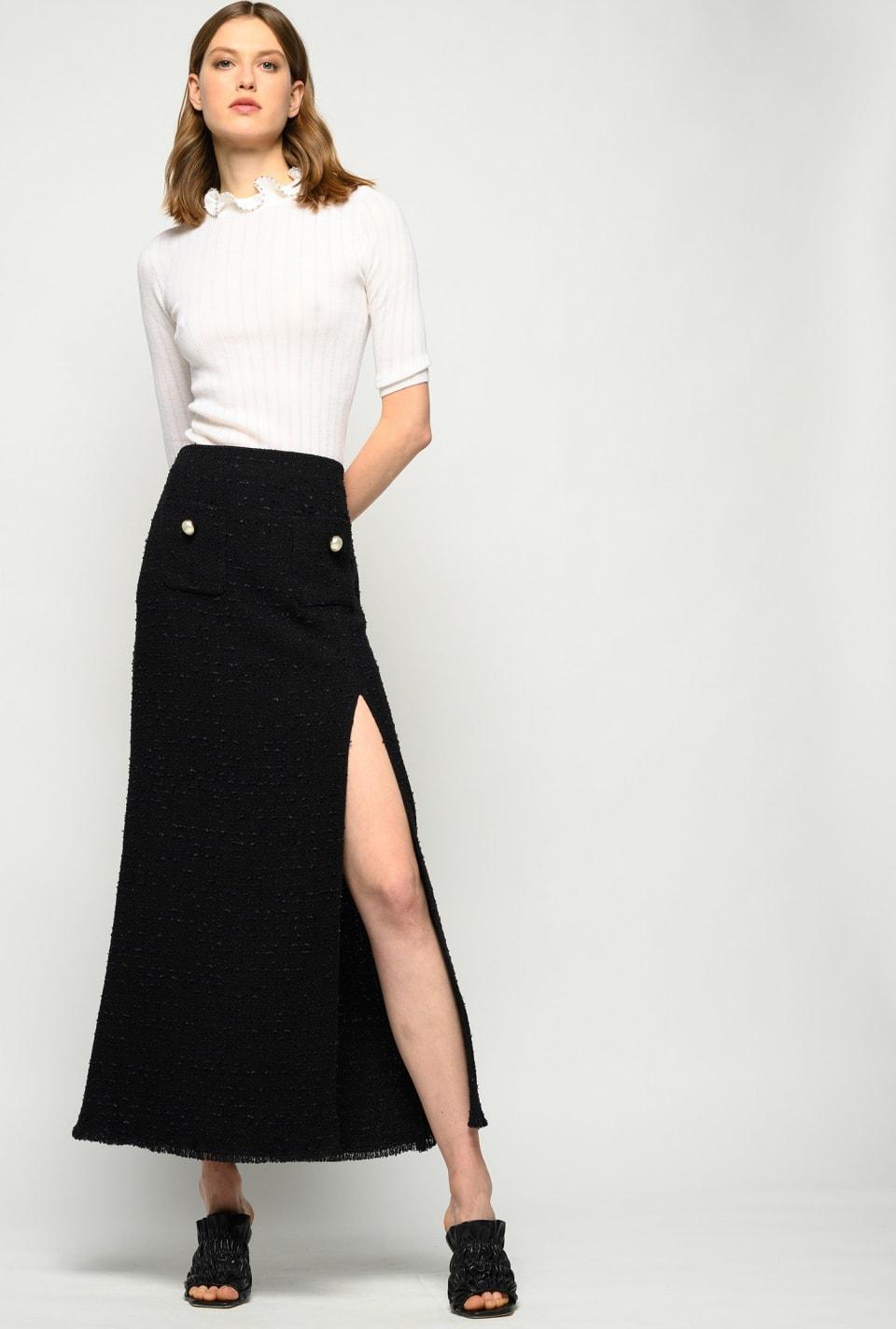 Long tweed skirt - Pinko