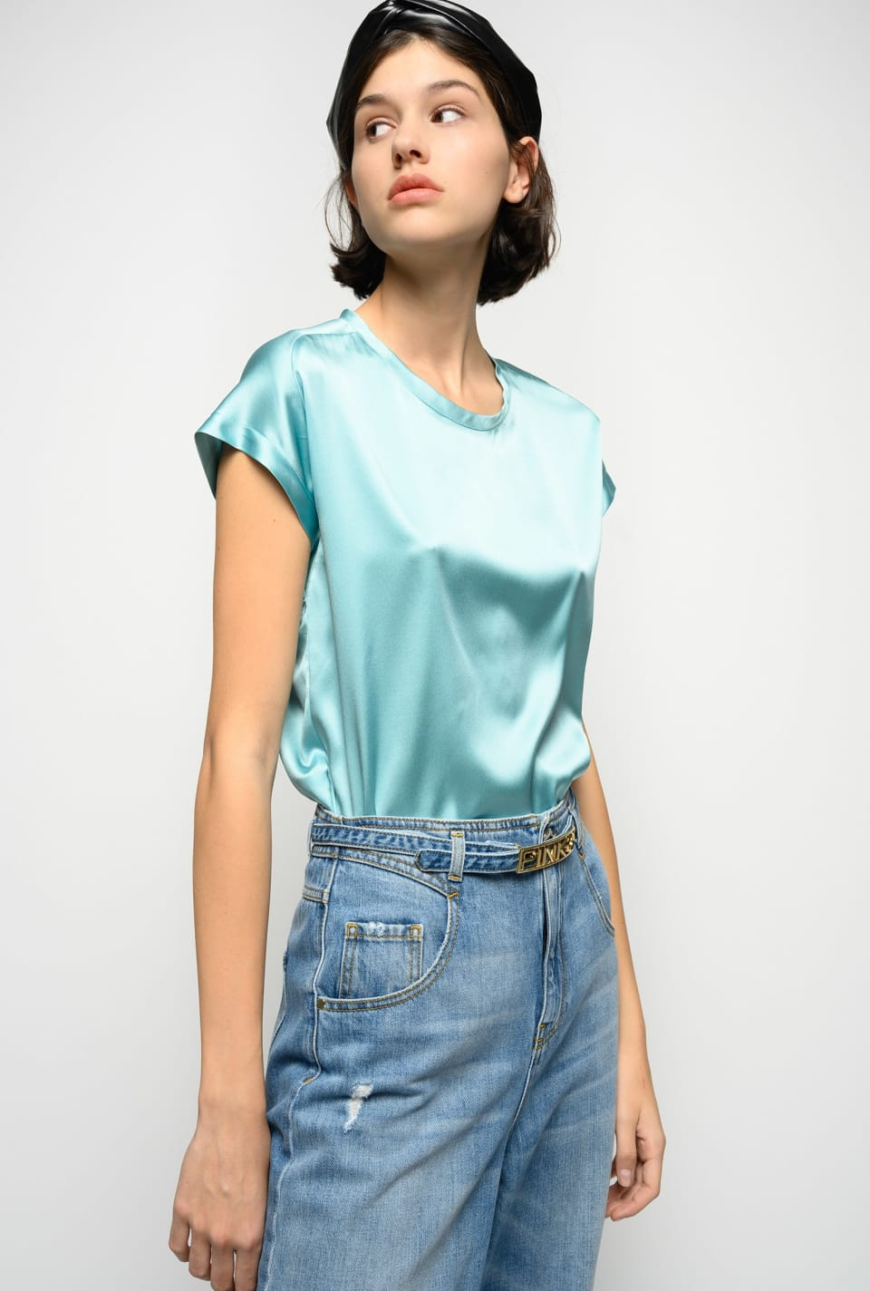 Blouse en satin stretch - Pinko