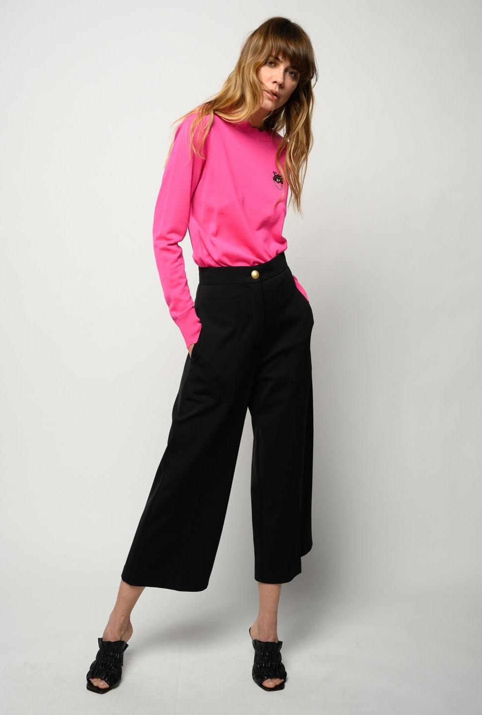 Pantaloni ampi effetto scuba - Pinko
