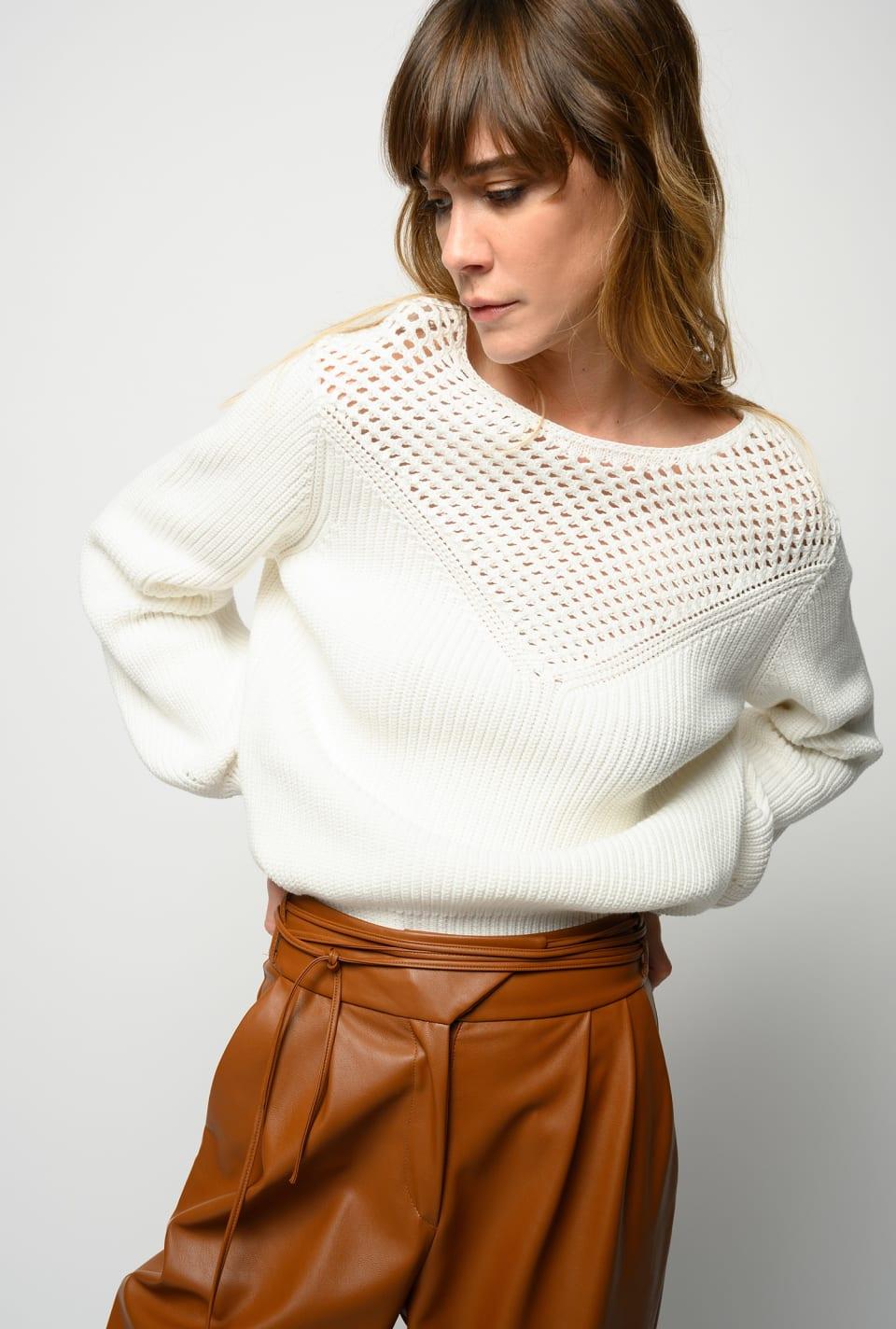 Suéter de canalé de algodón - Pinko