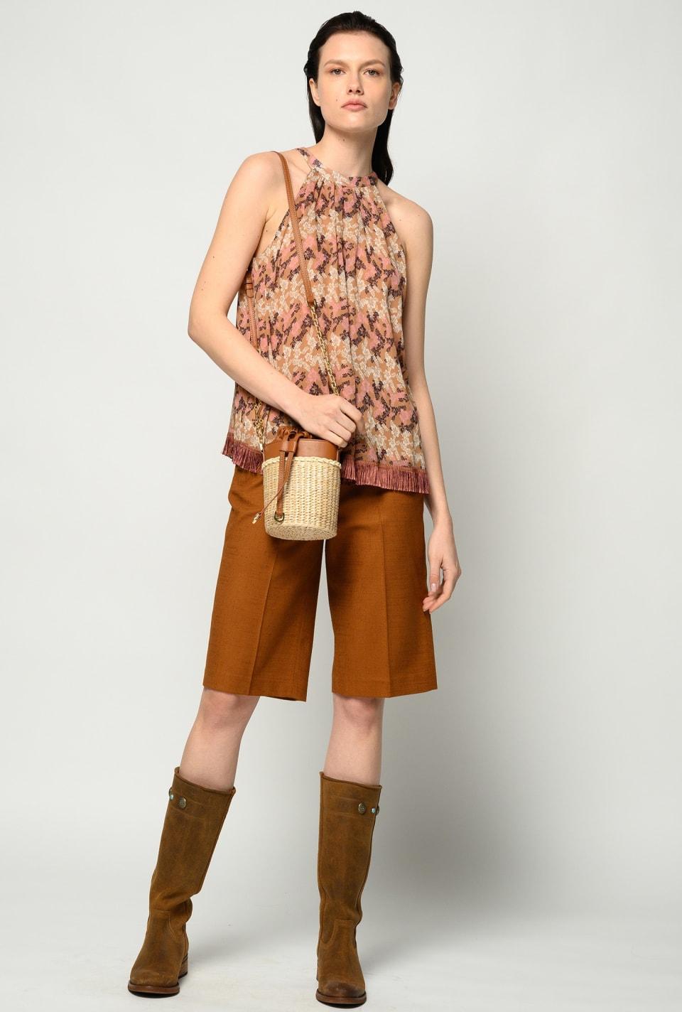High-waist bermuda shorts - Pinko