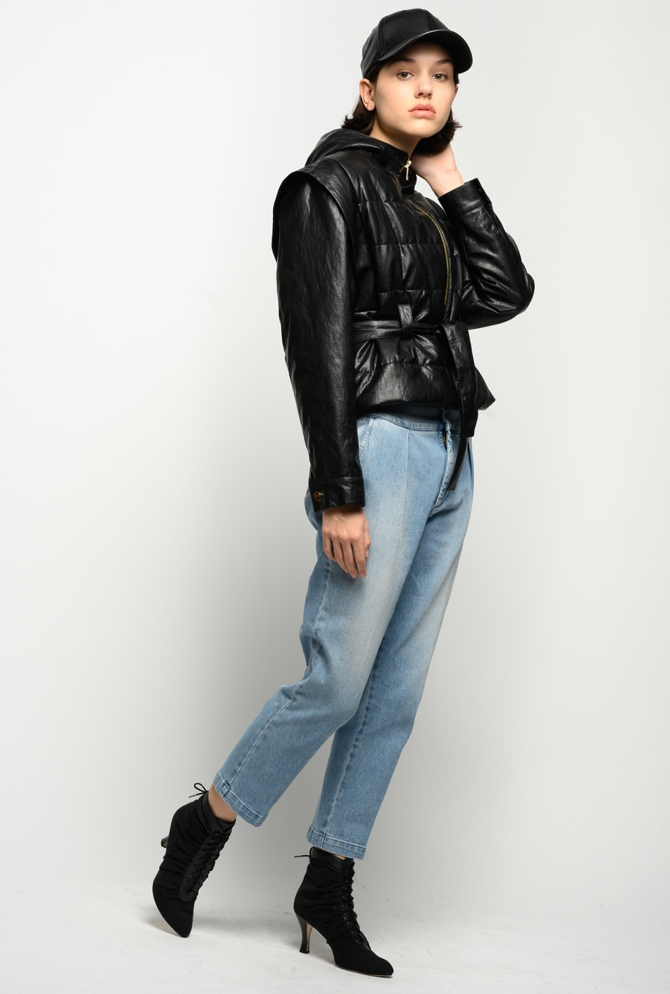Leather-look padded jacket - Pinko