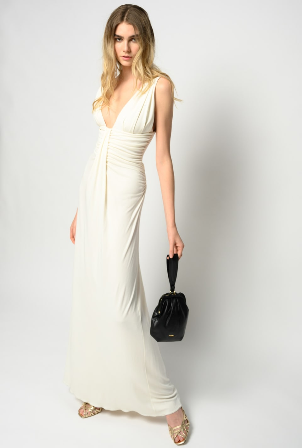 Long dress with low neckline - Pinko
