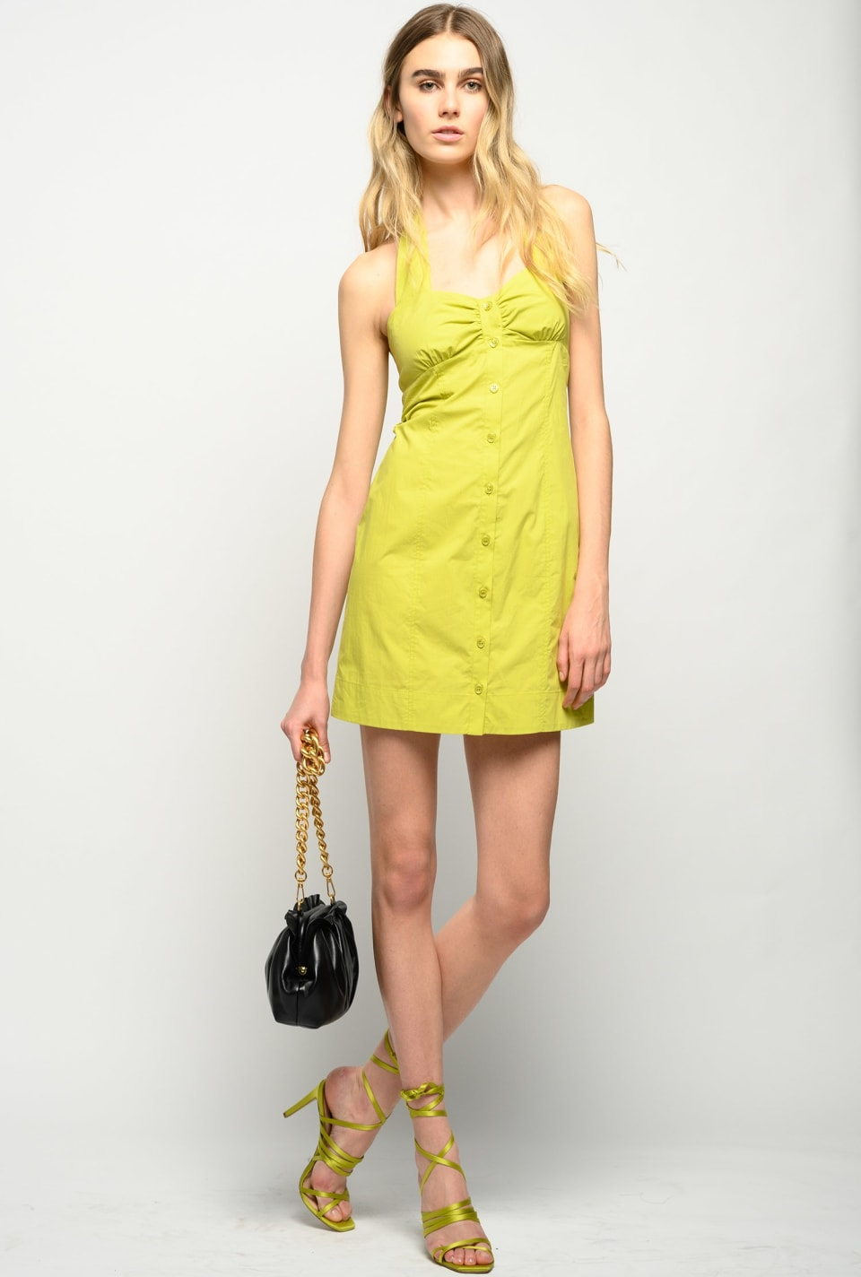 Short dress with neck fastening - Pinko