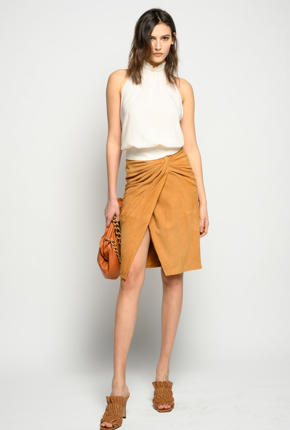 Gonna in suede - Pinko
