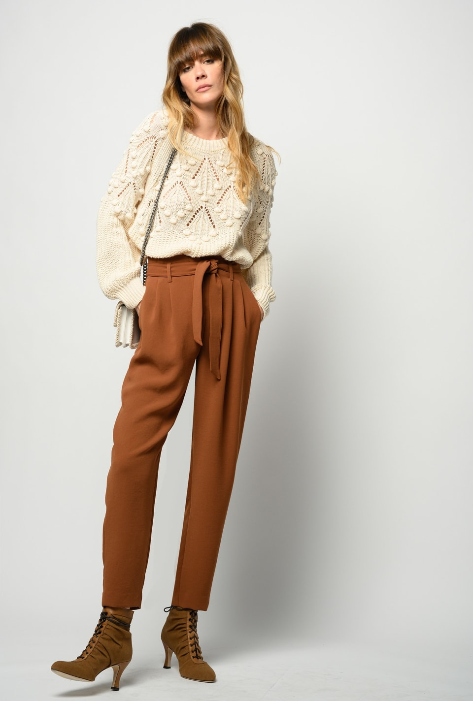 Flowing carrot-fit trousers - Pinko