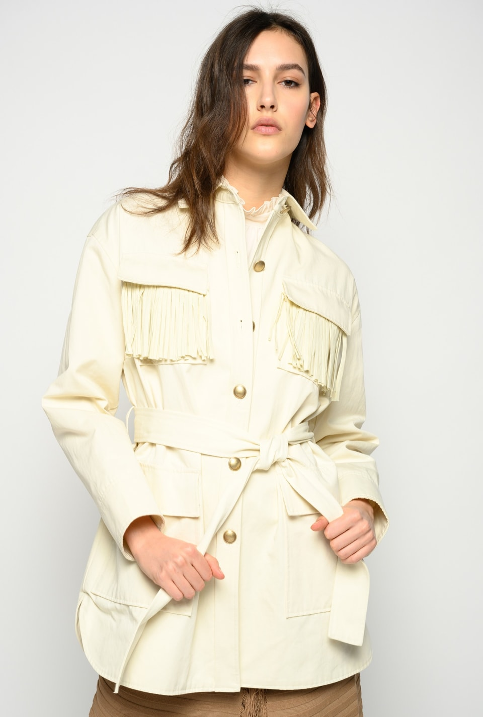 Fringed field jacket - Pinko