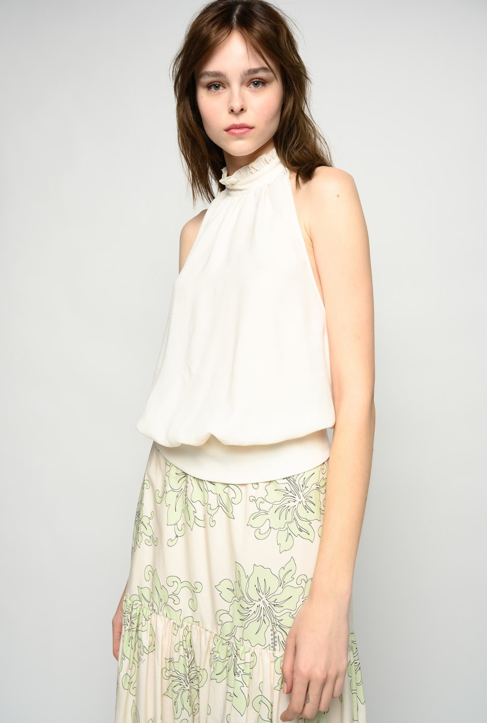 Halter neck top with bows - Pinko