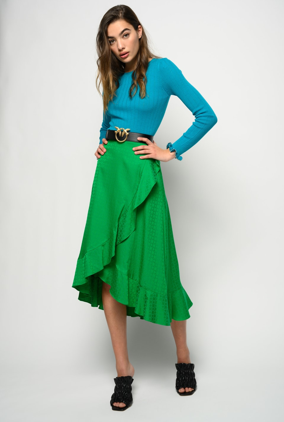 Long skirt with flounces - Pinko