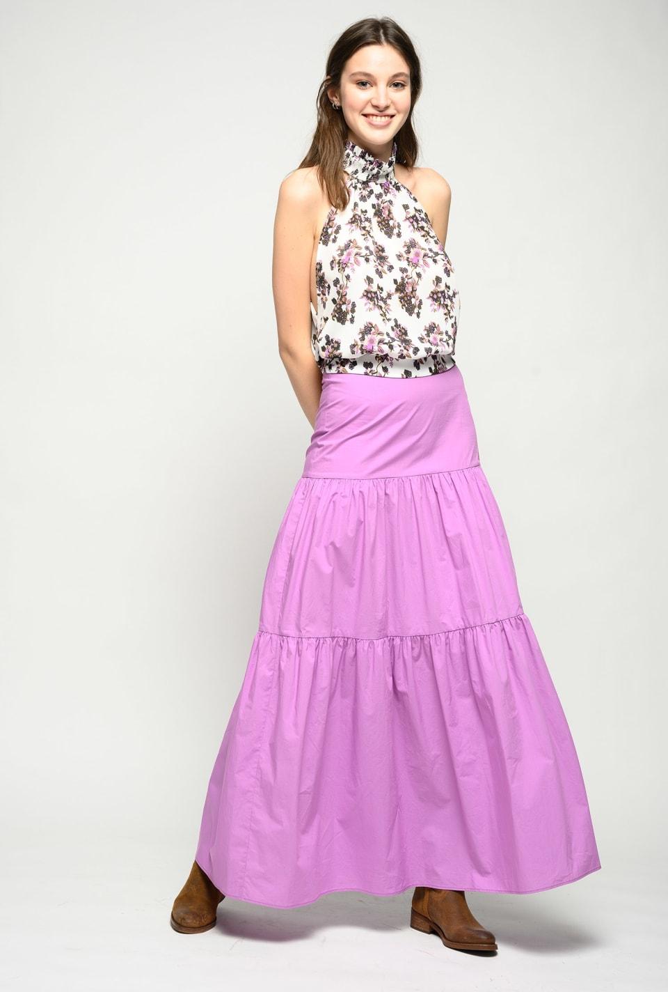 Long poplin skirt - Pinko
