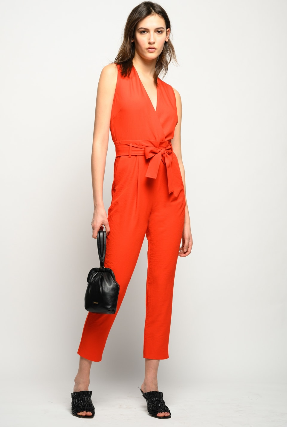 Tailored crossover jumpsuit - Pinko