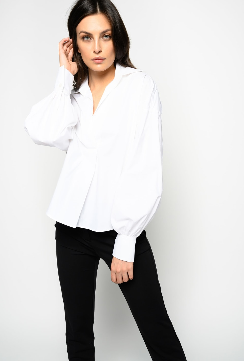 Stretch poplin blouse - Pinko