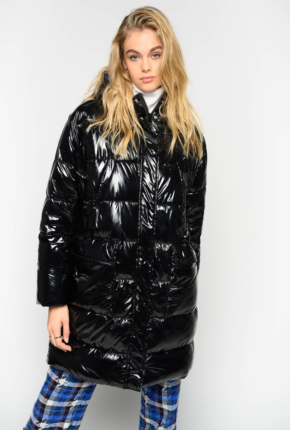 Glossy quilted coat - Pinko