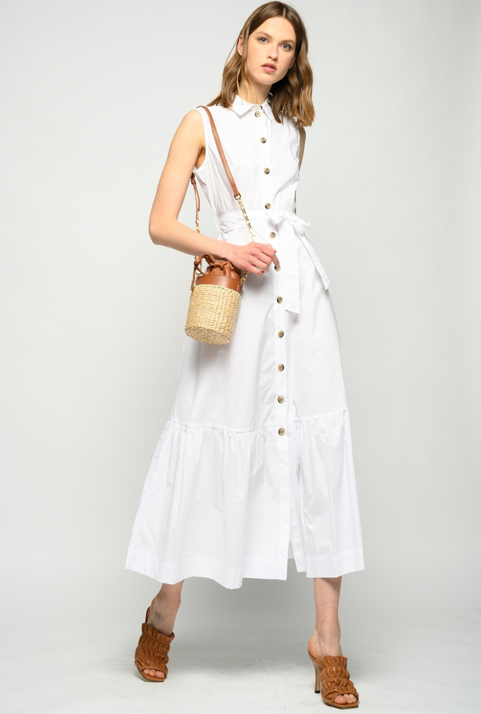 Long poplin shirt dress - Pinko