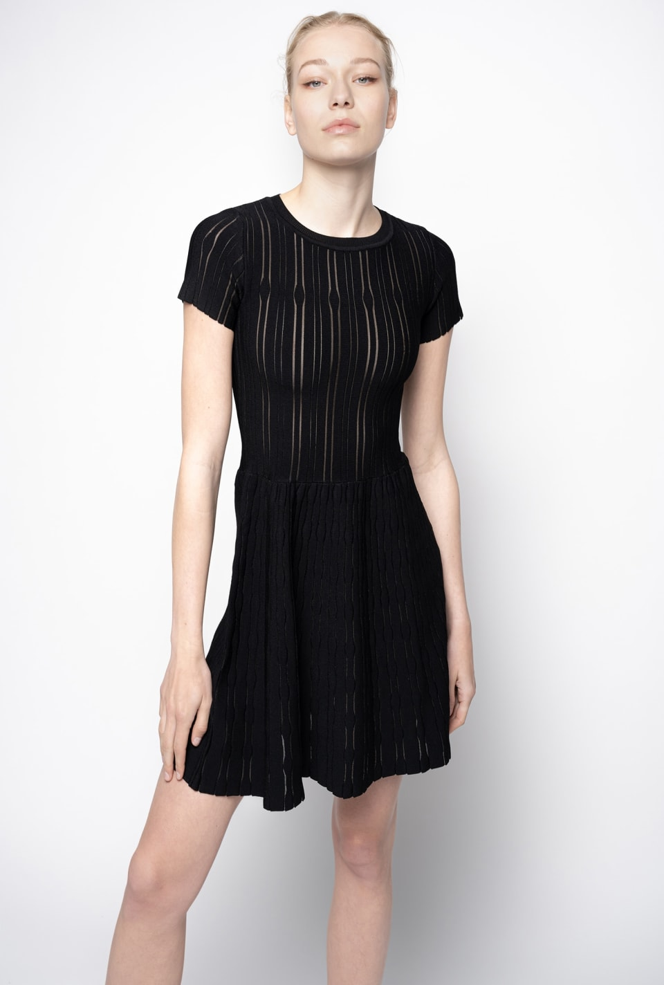 Knitted dress worked in a variety of stitches - Pinko