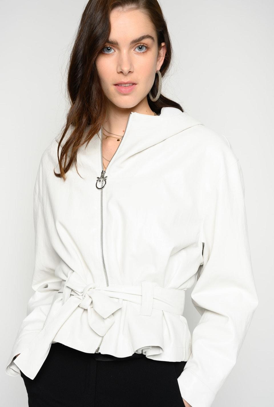 Jacke aus Stoff in Lederoptik - Pinko
