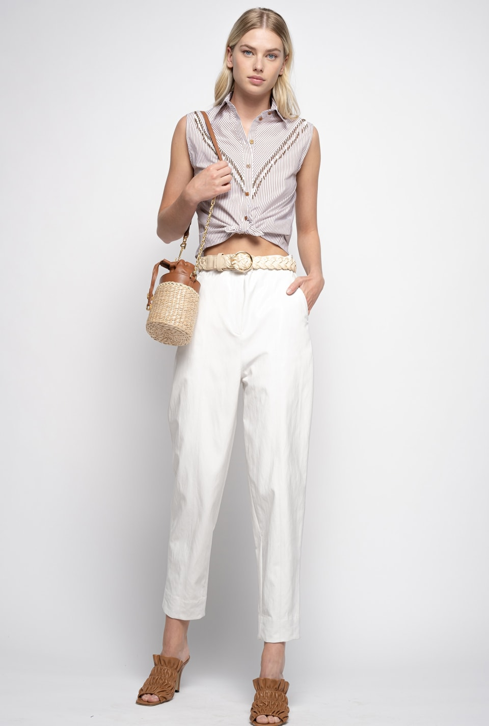 Leather look trousers - Pinko