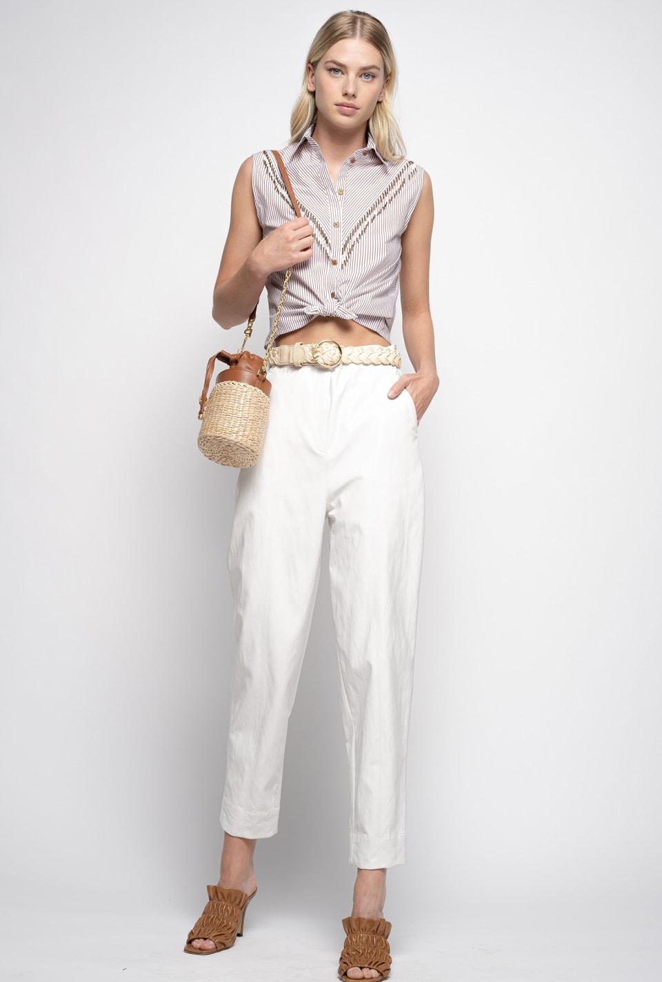Pantalon effet cuir - Pinko