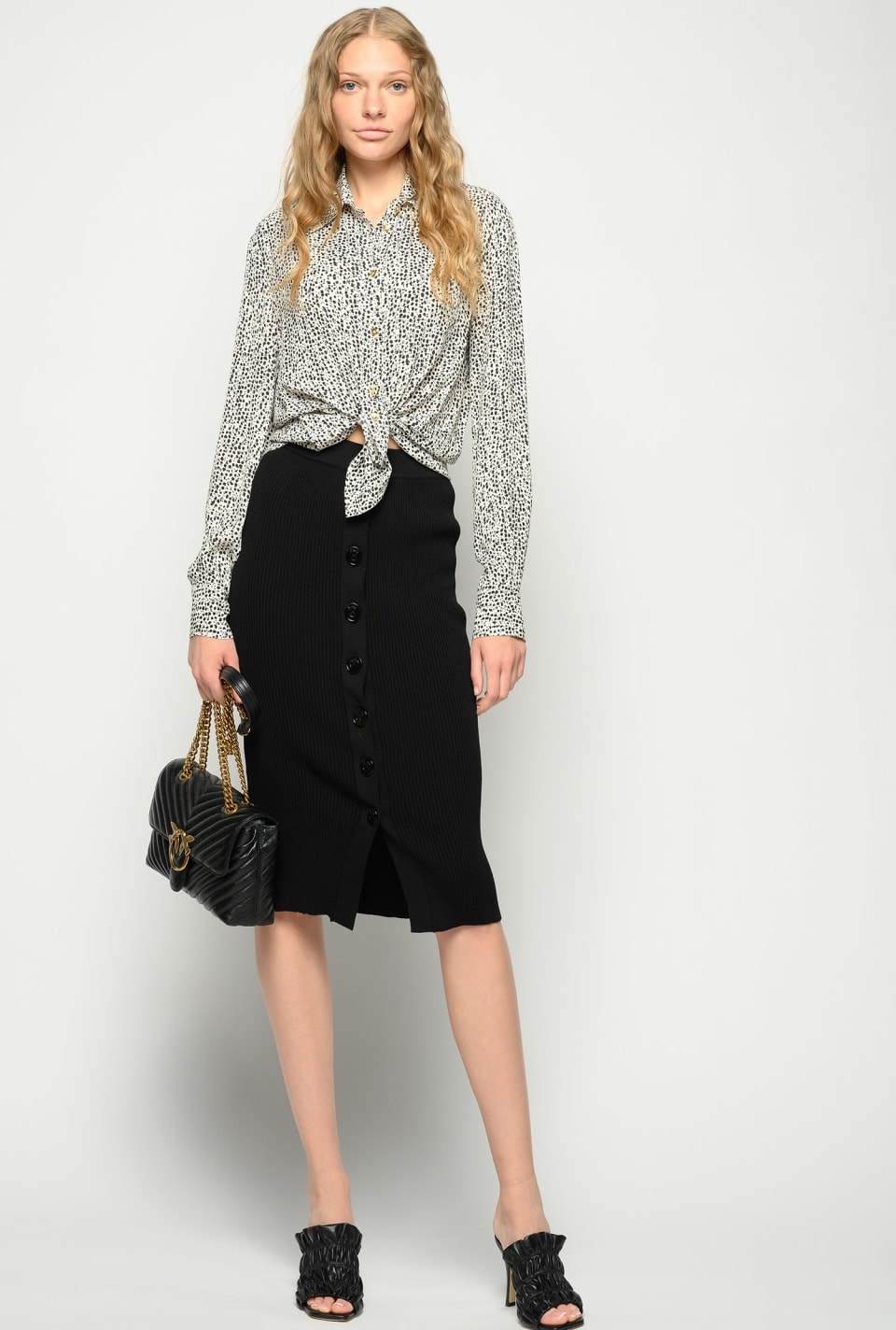 Midi-length knitted skirt - Pinko