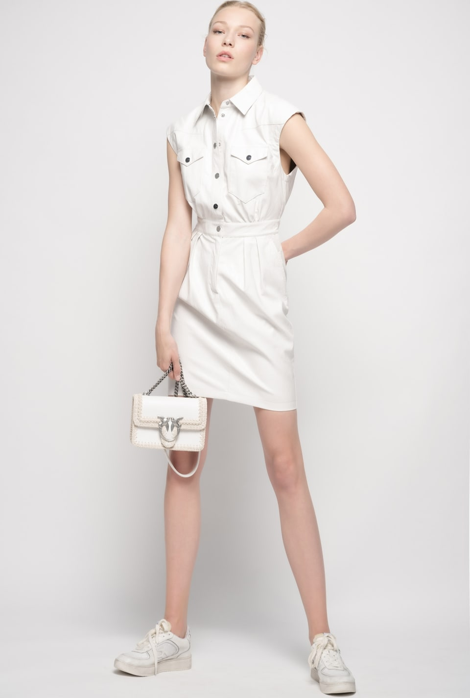 Leather look dress - Pinko