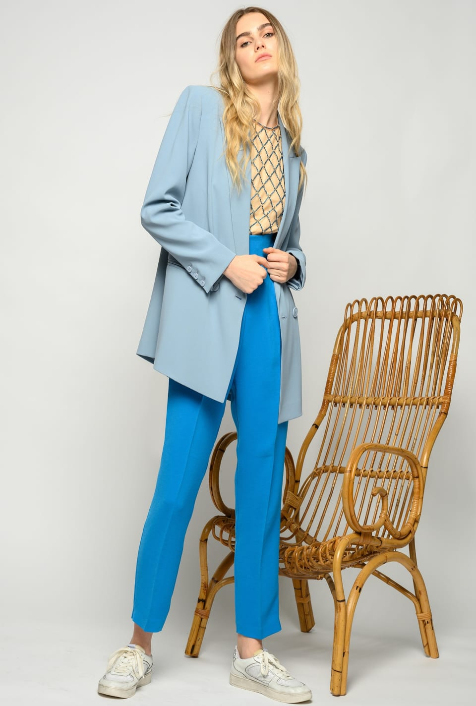 Long blazer in stretch crepe - Pinko