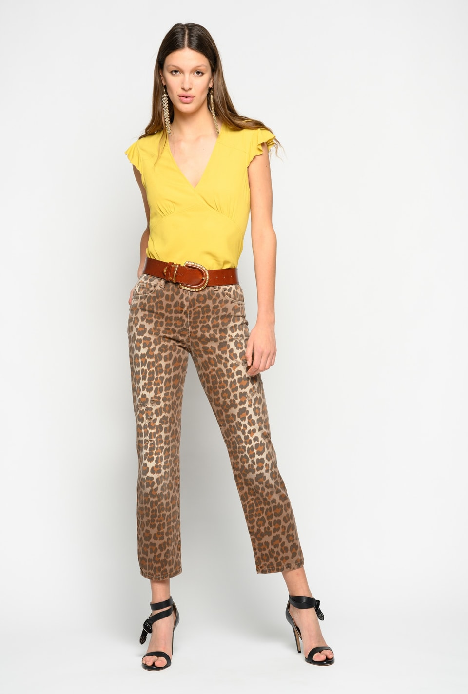 Animal-print trousers