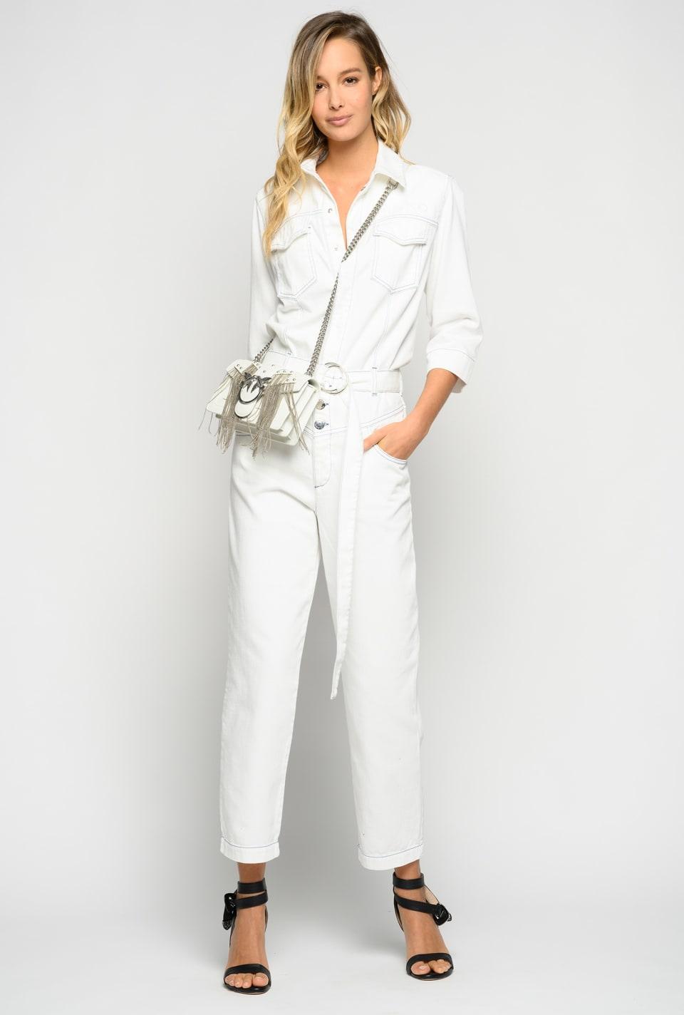 棉质粗纹布连体裤