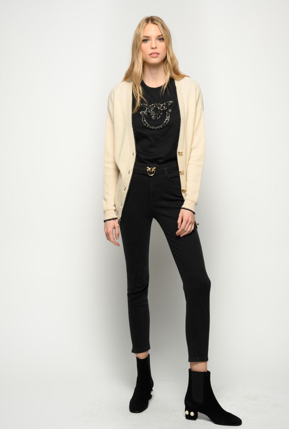 Skinny black jeans with belt - Pinko