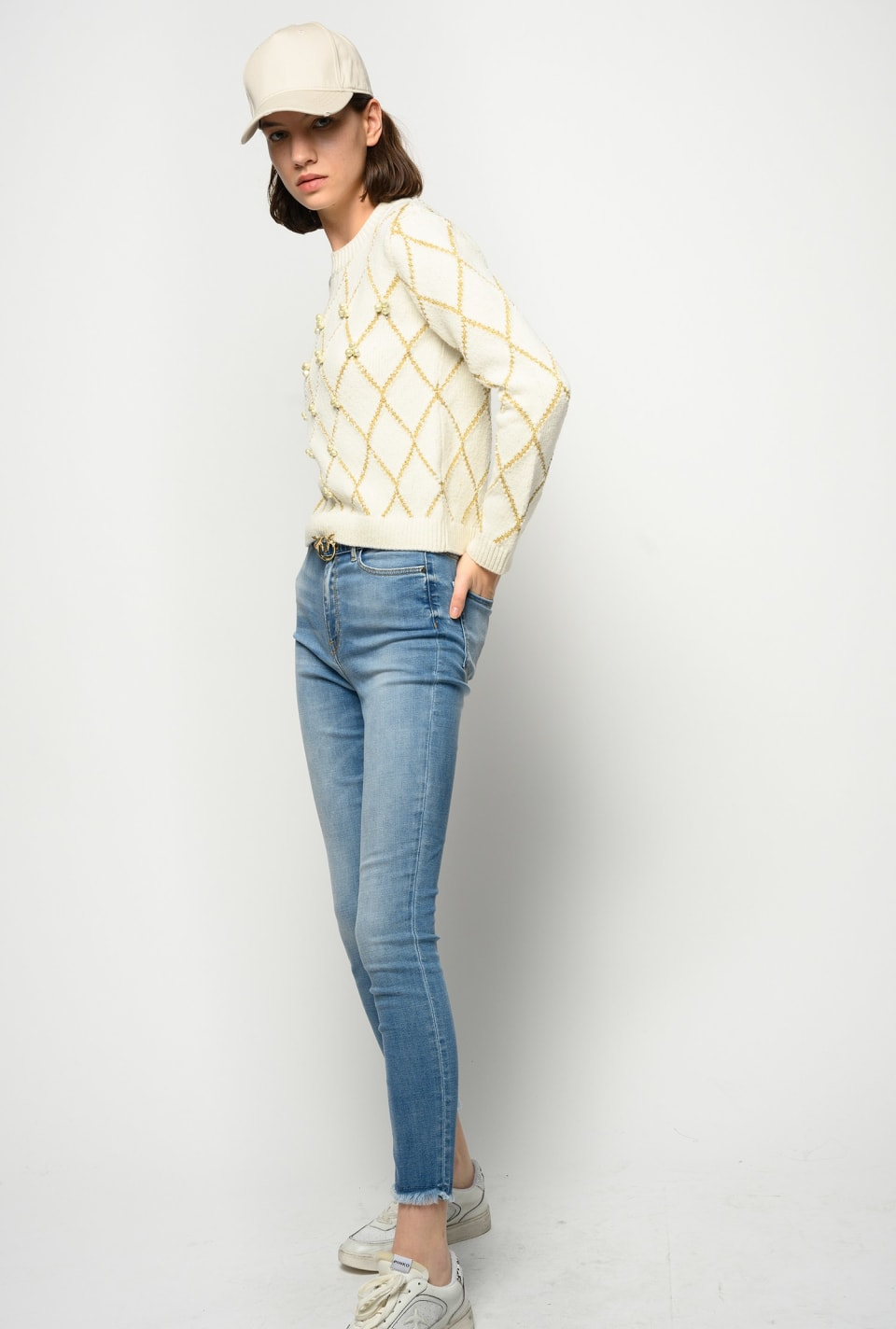 Skinny soft stretch jeans with belt - Pinko
