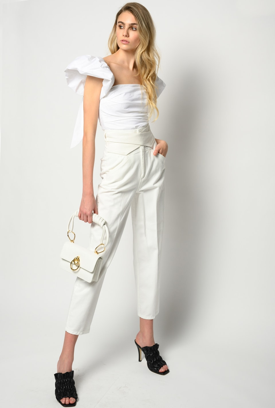 Pants with crossover belt - Pinko