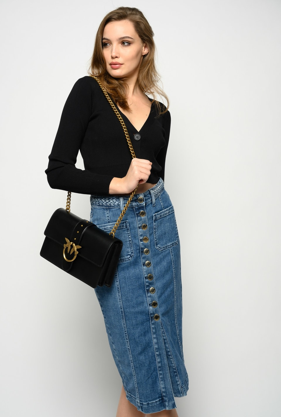 Gonna pencil in denim - Pinko